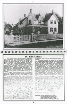 "Pelham Historical Calendar 2000: ""The Effrick House"""