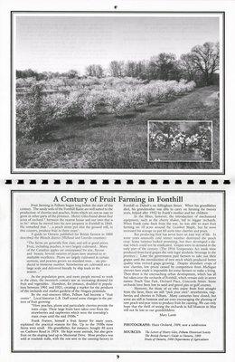 "Pelham Historical Calendar 2000: ""A Century of Fruit Farming in Fonthill"""