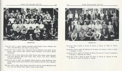 Pelham Pnyx 1950 - Class Photographs of Grade IXC and Grade XA