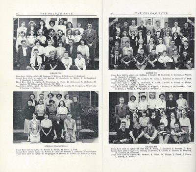 Pelham Pnyx 1950 - Class Photographs of Grade XC, Grade XI, Special Commercial and Grade XII