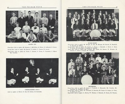 Pelham Pnyx 1950 - Photographs of Grade XIII Class, Cheerleaders, Bugle Band and Orchestra