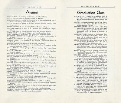 Pelham Pnyx 1950 - Alumni and Graduation Class
