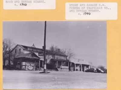 Store and Garage at Trafalgar Road and Dundas Street, ca1940