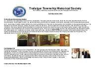 Trafalgar Township Historical Society Newsletter 2010 Fall