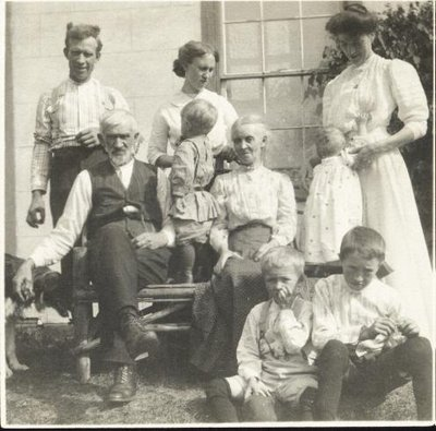 George and Emily Hardy With Grandchildren, August 1911