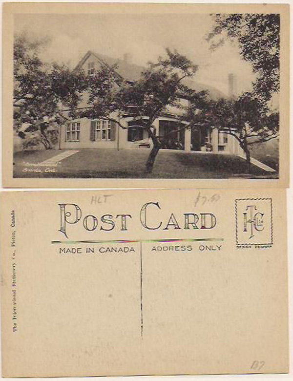 "Postcard: ""Birchwood"" Bronte, Ont."