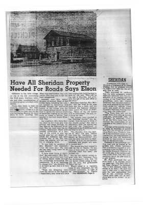Have All Sheridan Property Needed For Roads Says Elson, March 29, 1956