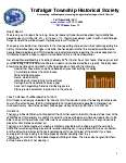 Trafalgar Township Historical Society Newsletter Fall 2011