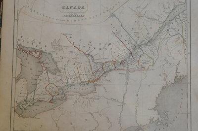 Maps of Upper Canada, North America & Europe in 1846