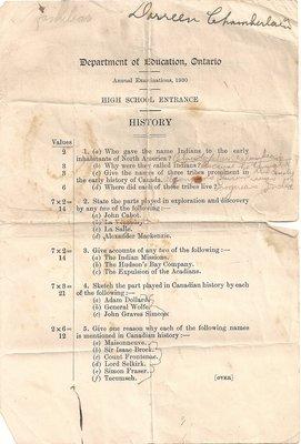 1930 High School Entrance Exams, History