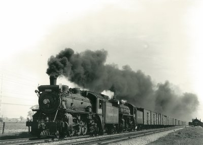 Canadian Pacific Steam Locomotive No. 2659 Leaving Hornby Station on May 15, 1954