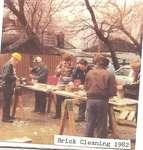Cleaning Bricks At Palermo United Church, 1982