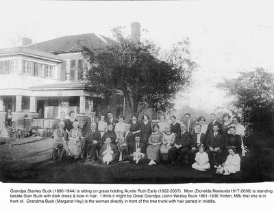 Buck Family Reunion, 1922