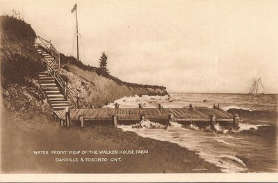 "Post Card: ""Water Front View of the Walker House Farm Oakville & Toronto, Ont."""