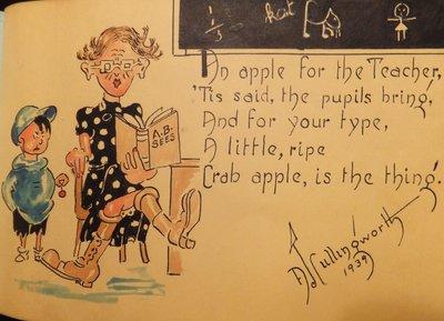 Allan Cullingworth, Artist and Cartoonist, Born in Trafalgar Township
