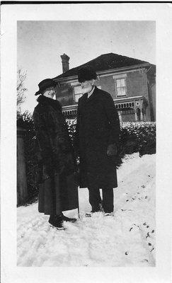 Clara Biggar with Her Grandpa, Michael Biggar