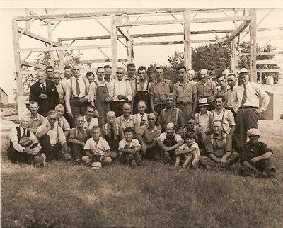 R.D. Fleming Barn Raising 1939