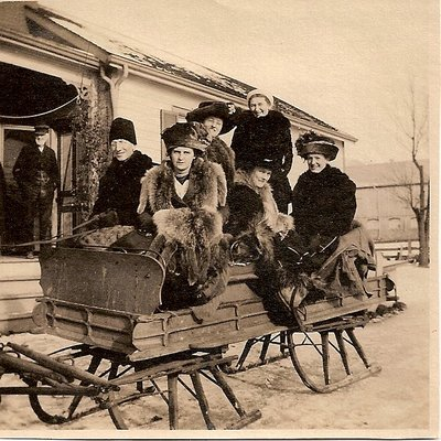 Sleighing on the Biggar Farm at 6th Line, Trafalgar