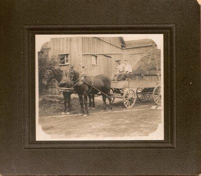 Albert, Wilbert and Clara Biggar At Glenclare Farm