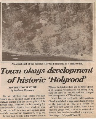 The Sale of Holyrood House 1996