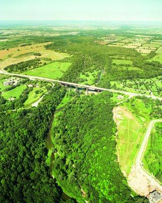 2002 Aerial Photographs of the Sixteen Mile Creek At Dundas Street