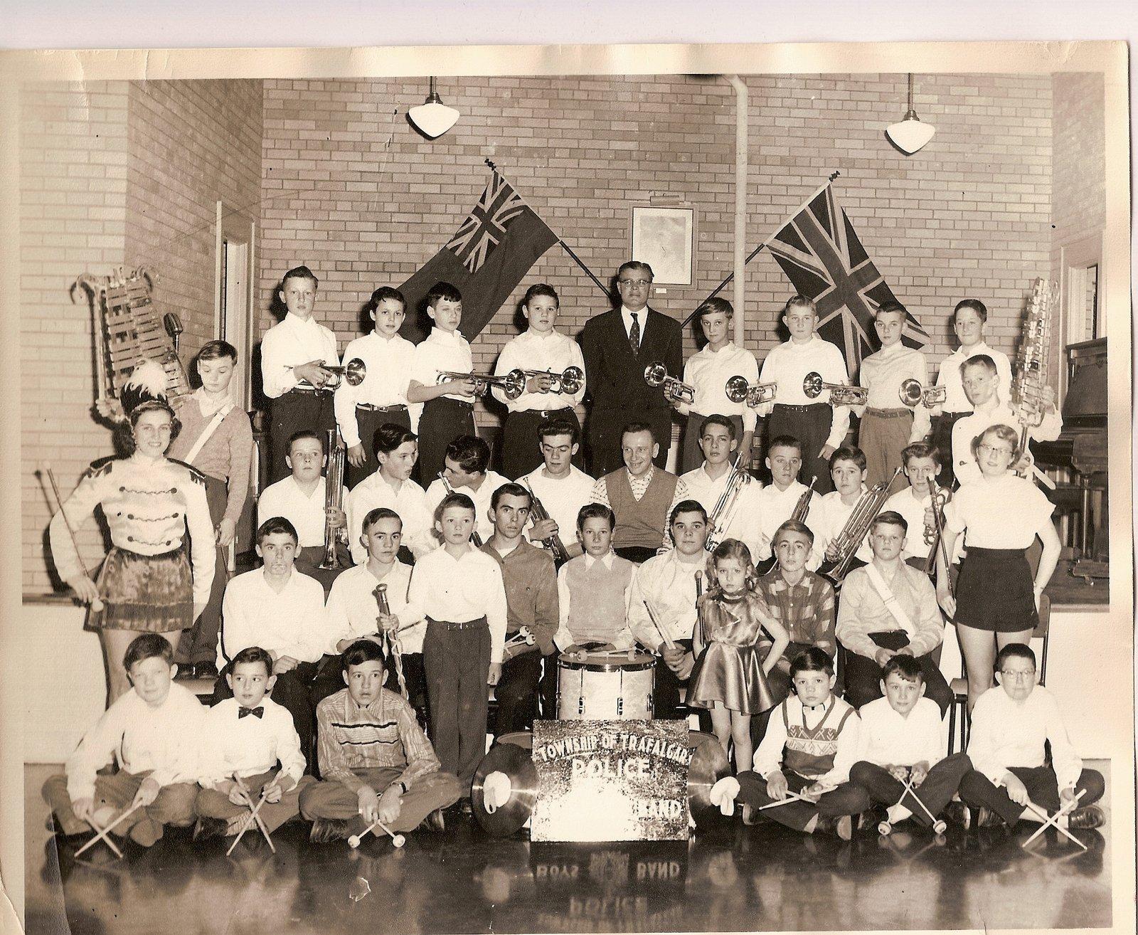 Township of Trafalgar Police Boys Band, Late 1950's