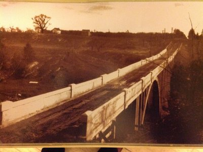 King George Arch Bridge Over the Sixteen Mile Creek, Looking West to Kerr St., Oakville, Demolished 1930's