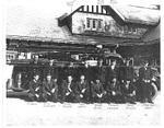 At The Trafalgar No. 2 Fire Station, Eaton Estate, 1940's