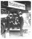 Trafalgar Fire Chief George Wright, Oakville Fire Chief Doug Wilson, pre-January 1, 1962