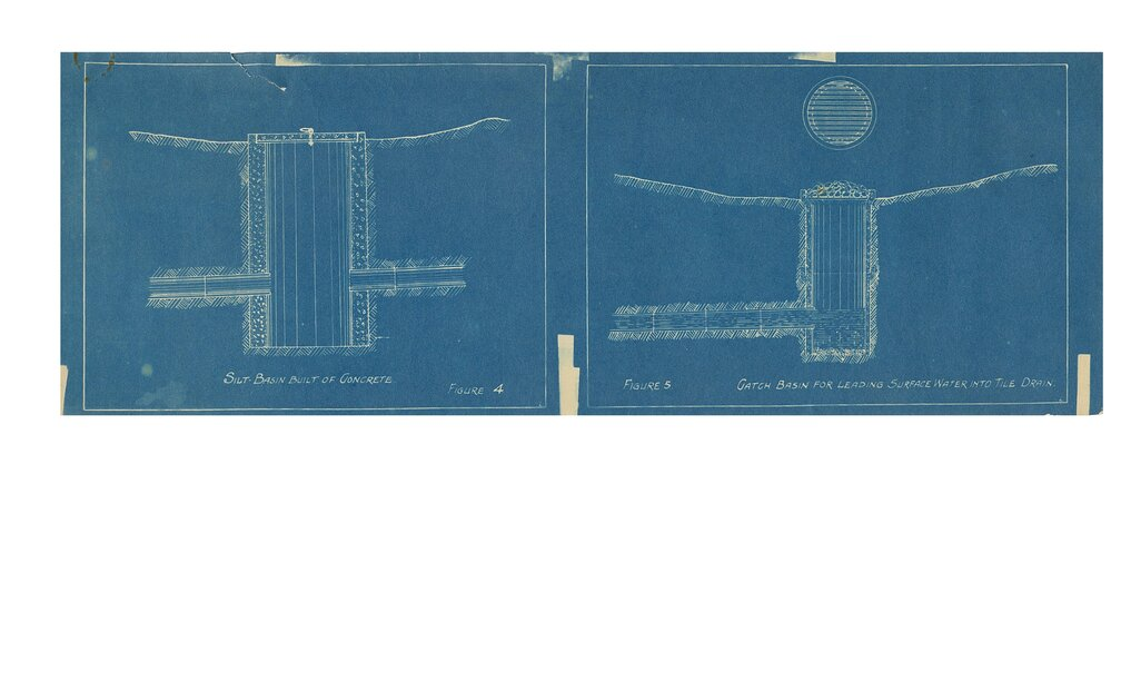 1934 Blueprints for Trafalgar S.S. No. 12, the Ninth Line Public School, now Maple Grove