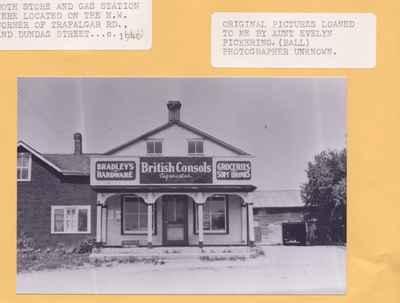 Store and gas station at Trafalgar Road and Dundas Street