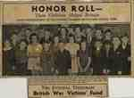 S.S. #7 Honor Roll For Aiding War Victim's Fund
