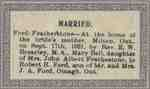 Marriage Notice for Mary B. Featherstone and R. Ford.