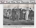 "Clipping from Oakville Record; ""Bob"" Ford Wins New Chevrolet Coach"