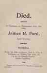 Funeral Card for James R. Ford