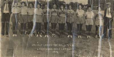 Oakville Ladies Softball Team 1934