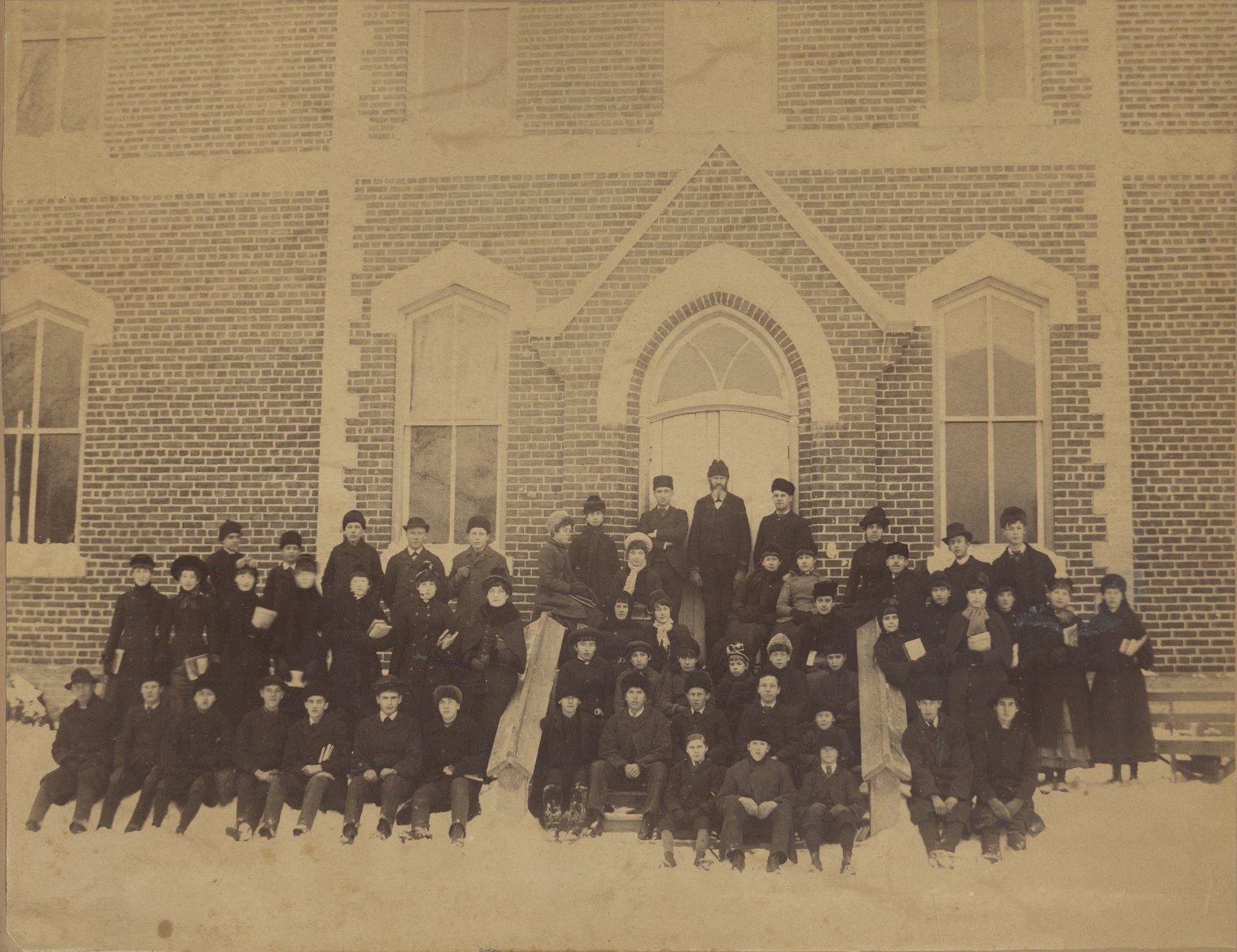 Oakville Trafalgar High School in Winter