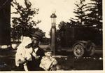 Ernest Patterson (1874 - 1956) With Neice Irene and Son Ernie.