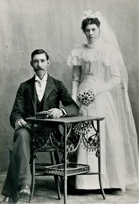 Wedding Photo of Mr. and Mrs. Davidson, 1898