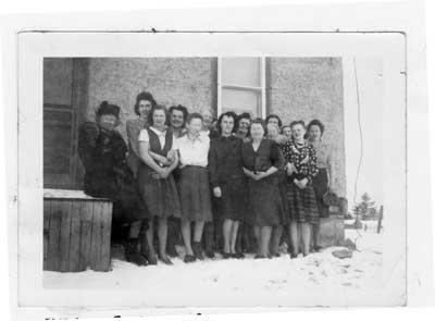 Princess Elizabeth Women's Institute founding members, Livingstone Creek, Ontario, Jan 20th, 1948.