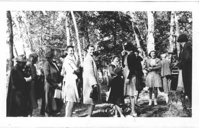 Outdoor Church ServiceRev. W. Roger's Officiating, Little Basswood Lake, July 1940