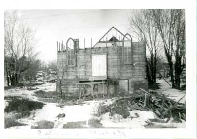 Deconstruction of Nesterville Catholic Church, circa 1928