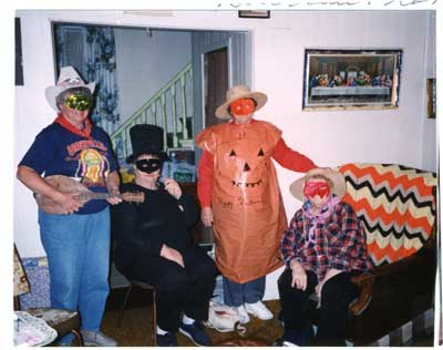 Halloween at the home of Lou Bigras, 1994