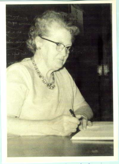 Mabel Hern at Nestorville School, circa 1953