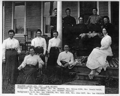 Milltown Ladies Aid, Alma Heights, Thessalon, 1907