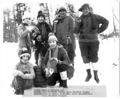 Young Ladies Mugging for the camera,Thessalon, Winter - 1923