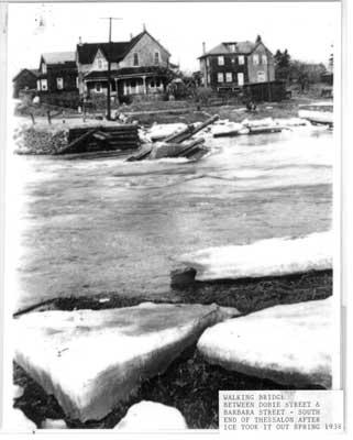 Remains of the Walking Bridge, Thessalon, Spring 1938