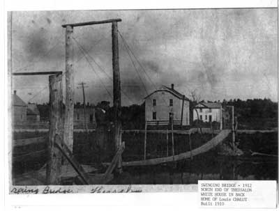 Swinging Bridge, North End of Thessalon, 1912