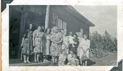 Women's Institute Meeting at Mrs. J.S. Scheuermann's, July 1948