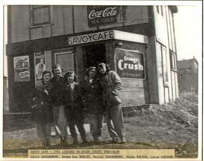 Group of Women at the Savoy Café,Thessalon, 1951